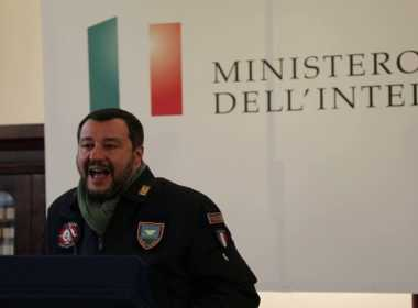 Matteo Salvini in visita a Napoli e Afragola.