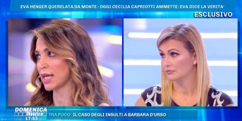 Cecilia Capriotti appoggia Eva Henger