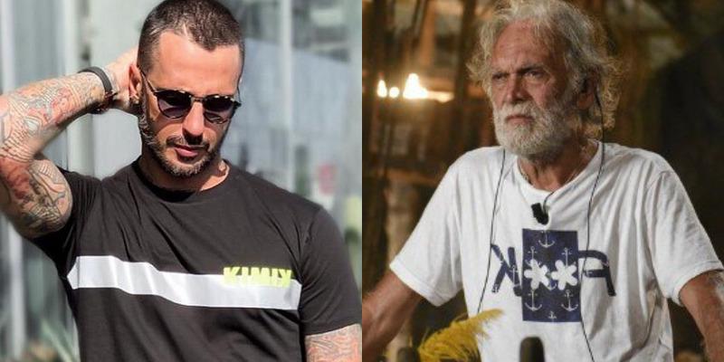 Fabrizio Corona e Riccardo Fogli