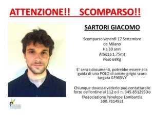 Missing Giacomo Sartori