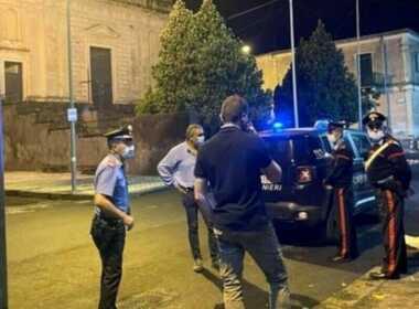 Acireale carabinieri ferito a colpi di pistola