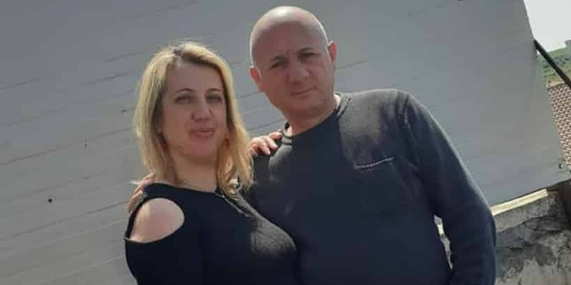 Rotini e l'ex marito Filippo Asero