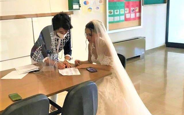 insegnante abito da sposa