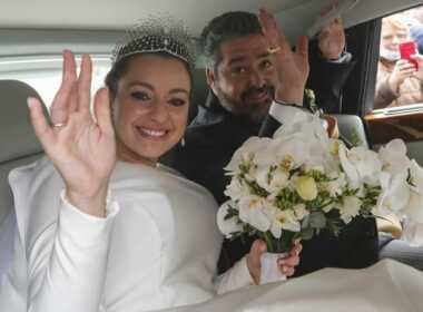 Russia- Rebecca bettarini e il marito